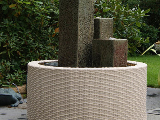 Wicker Dekorkant Vit 90l